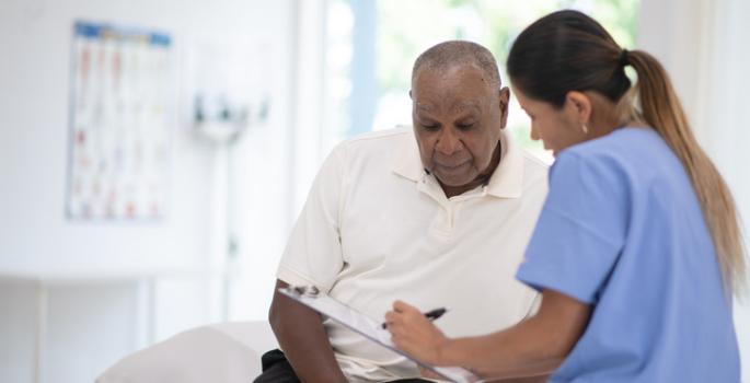 man checkup doctor hospital