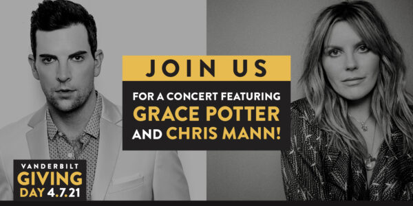 Join us for a concert featuring Grace Potter and Chris Mann! Giving Day, April 7, 2021