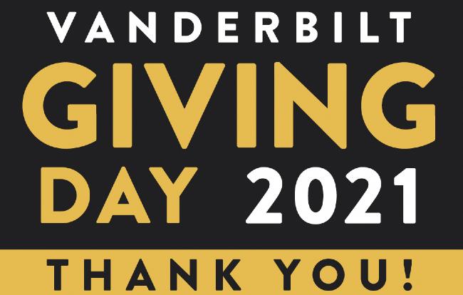 Vanderbilt Giving Day 2021 Thank You!
