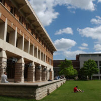 Wilson Hall and the adjacent Curry Field
