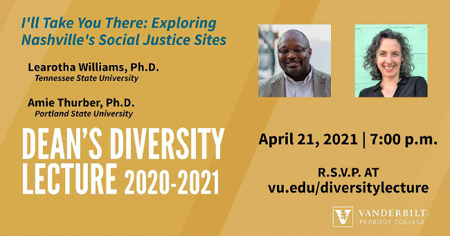 Peabody Dean's Diversity Lecture to explore new book on Nashville's social justice sites