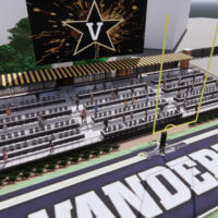 An artist's rendering of the renovated Vanderbilt Stadium north end zone.