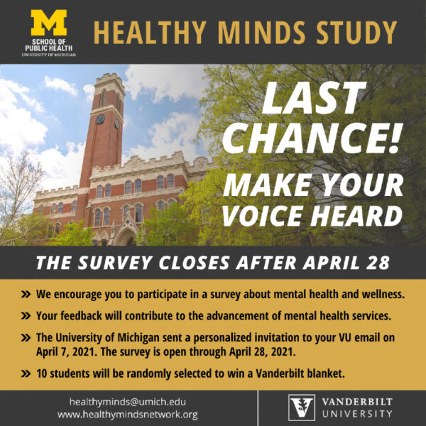 Healthy Minds Study: Last Chance to Make Your Voice Heard