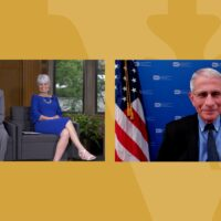 Dr. Anthony Fauci met virtually with Vanderbilt Law School graduate Ed Nichols and his wife, Janice, who endowed the Nichols-Chancellor's Medal in honor of Edward Carmack and Lucile Hamby Nichols.