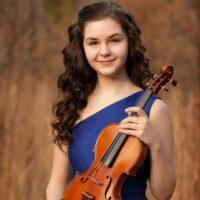 Iris Shepherd with her violin