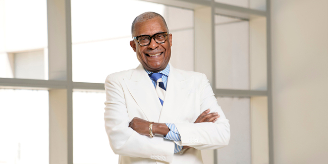 Andre Churchwell, MD poses for a photo on May 11, 2021. Photos by Donn Jones/Vanderbilt University Medical Center.