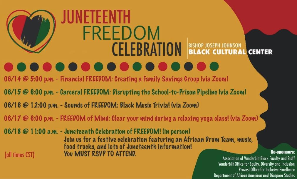Juneteenth Freedom Celebration graphic