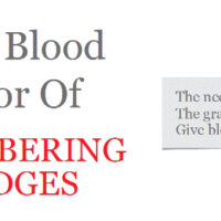 American Red Cross Blood Drive: Remembering the Badges