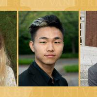 Frances Burton, Matt Zhang and Barton Christmas - Keegan Traveling Fellows for 2020 and 2021