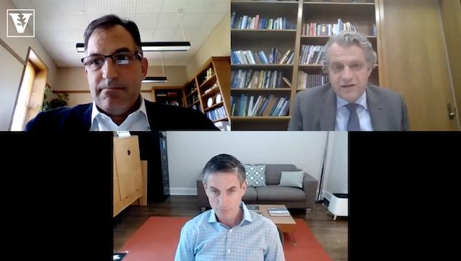 Eric Kopstain, Daniel Diermeier and Michael Greenstone discuss Vanderbilt's sustainability efforts