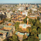 aerial photo of Vanderbilt's campus