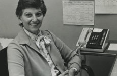 Nancy Ransom, the Women's Center's first director, in her office in the late 1970s (Vanderbilt Special Collections and University Archive)
