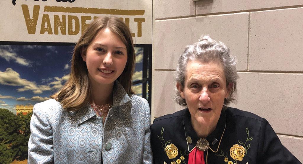 photo of Claire Barnett with Temple Grandin