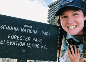 photo of Vivian Saxon in Sequoia National Park