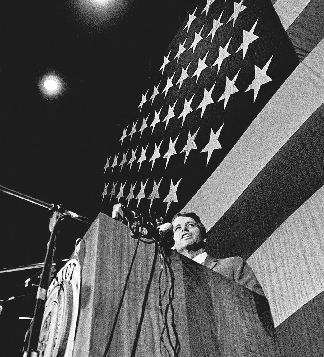 photo of Robert Kennedy at a podium