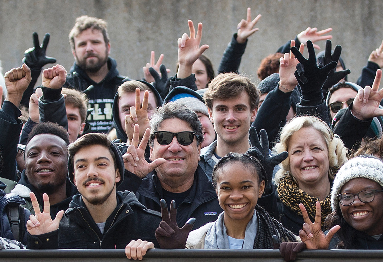 Zeppos joined members of the Vanderbilt community, including Provost and Vice Chancellor for Academic Affairs Susan R. Wente, to commemorate the life and legacy of Rev. Martin Luther King Jr. at the 2018 Nashville Freedom March in January. (JOE HOWELL)
