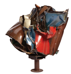 Maz by American sculptor John Chamberlain (1927–2011) iso ne of the most important post-World War II works in the Vanderbilt collection.