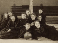 Stella Vaughn (front row, left) and her team won the first women's basketball game 5–0 in 1897, prompting Vaughn to become Vanderbilt's first female coach. (VANDERBILT SPECIAL COLLECTIONS AND UNIVERSITY ARCHIVES)