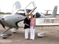 Amanda Farnsworth, left, and Dee Dee Turner prepare to fly to Havana Aug. 9, 2016. (COURTESY OF AMANDA FARNSWORTH)