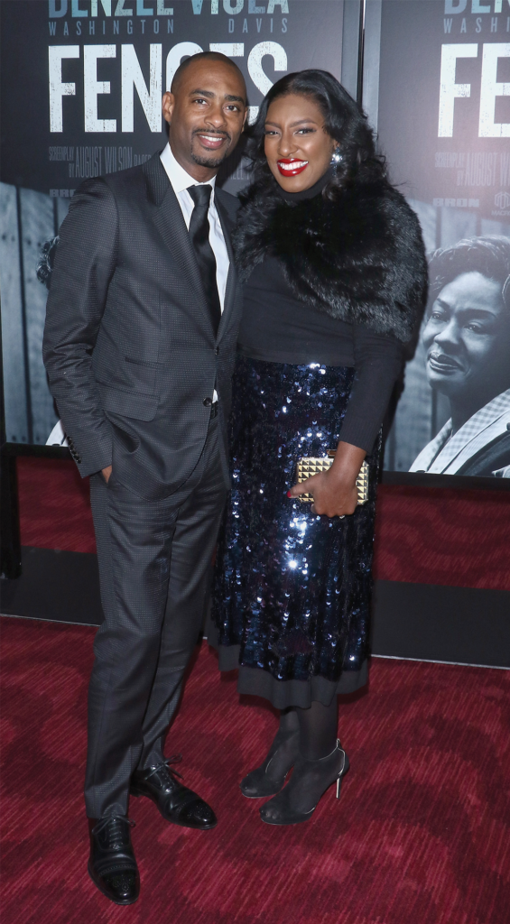 Charles D. and Stacey King attend the New York screening of Fences at the Rose Theater at Jazz at Lincoln Center on Dec. 19, 2016. The film went on to be nominated for 105 awards—and winning 50, including an Oscar for Best Supporting Actress (Viola Davis). (JIM SPELLMAN/WIREIMAGE/GETTY)