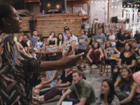 Soprano Kelsey Onwuzuruigbo sings at Nashville's inaugural Opera on Tap event, held at Harpeth Brewing Co. in September 2016. Photo by Nduka Onwuzuruigbo