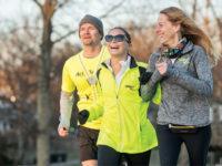 Stephanie Zundel, center, trains in Nashville for April's Boston Marathon with Harvey Freeman and Amy Harris of Achilles International (JOHN RUSSELL)