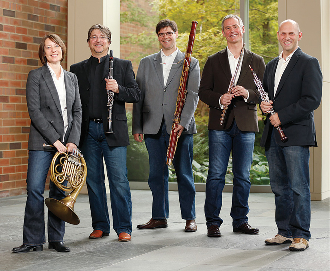 "The Blair Woodwind Quintet presented the world premiere of composer Augusta Read Thomas' ""Avian Escapades"" in September."