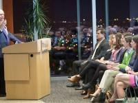 John Geer speaks to the  Nashville Vanderbilt Chapter. (SUSAN URMY)