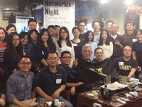 Nearly 1,000 alumni worldwide gathered in their respective cities Nov. 5 for Vanderbilt's annual Networking Night, including this crowd in Shanghai.