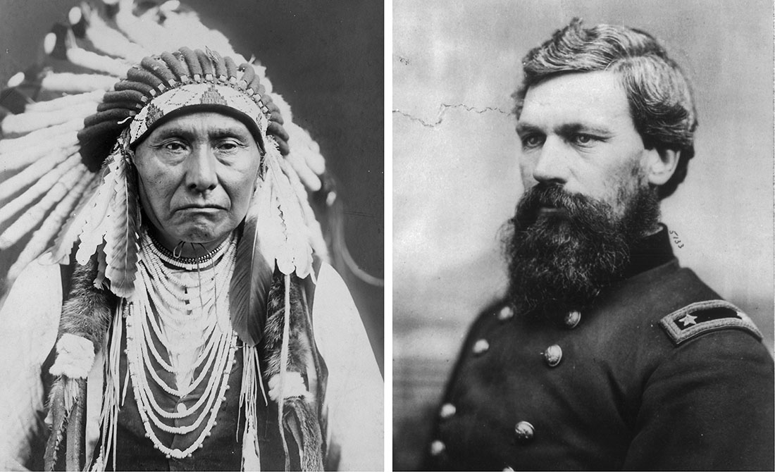 Chief Joseph and Gen. Oliver Otis Howard (ARCHIVAL PHOTOS: LIBRARY OF CONGRESS)