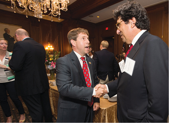Photo of Chancellor Nicholas S. Zeppos with U.S. Rep. Chuck Fleischmann (R-Tenn.)