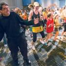 photo of Chancellor Zeppos dancing