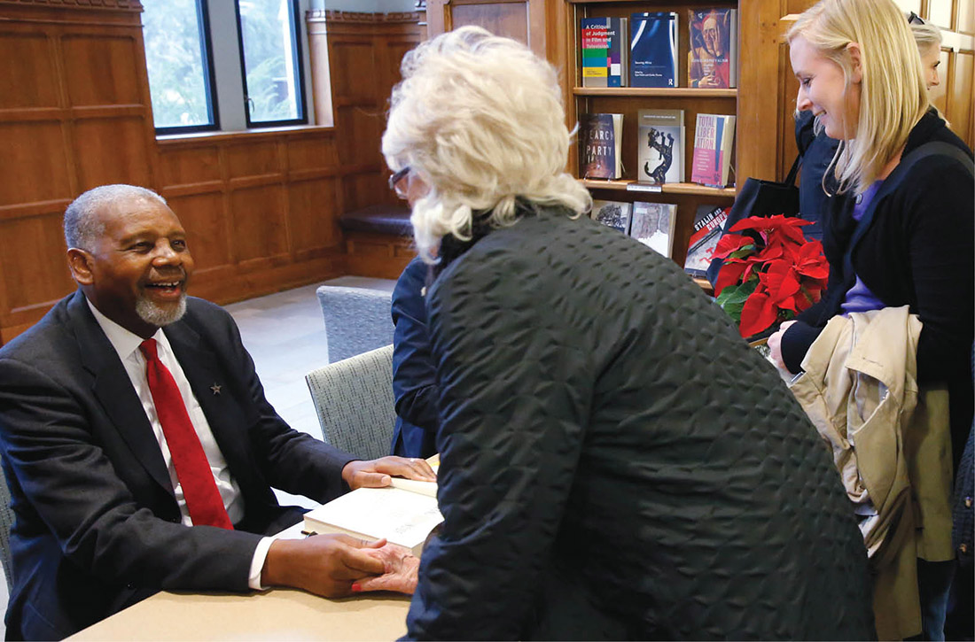 photo of Perry Wallace at library event