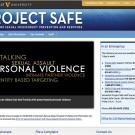 screen shot of Project Safe webpage