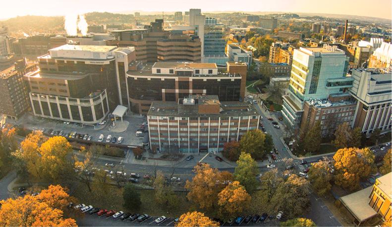 Aerial photo of VUMC