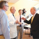 Photo of Lamar Alexander with researchers