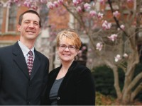 Trey and Vanessa Beasley led the Faculty-Staff Campaign for 2014. (JOHN RUSSELL)