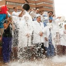 Photo of ice bucket challenge at VUMC