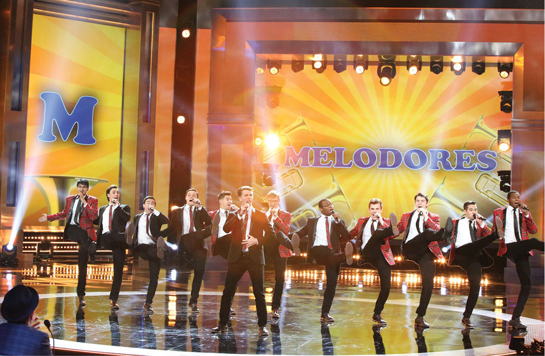 Photo of The Melodores performing