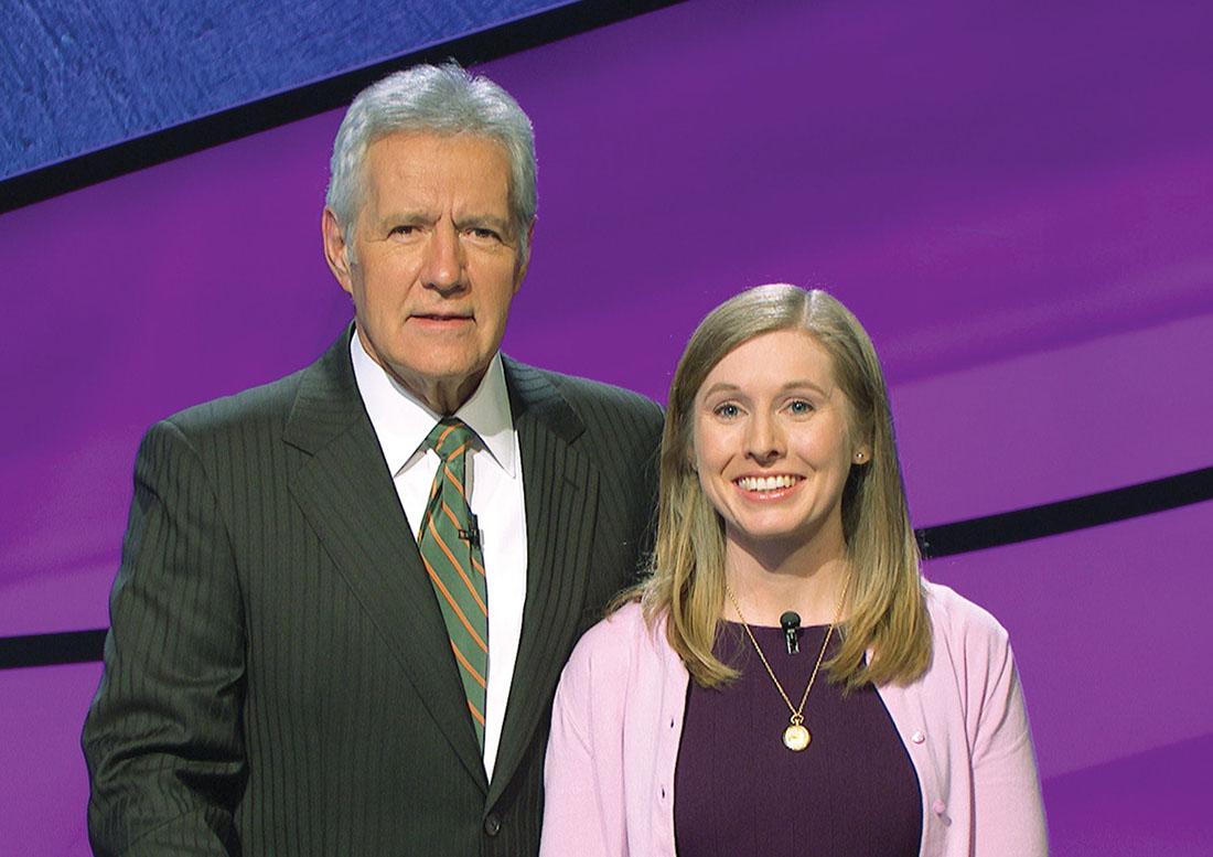 Lalonde with Jeopardy! host Alex Trebek