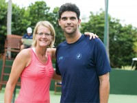 At the 2012 Necker Cup, Trista Fredell was paired with former pro Mark Philippoussis, who won 11 titles during his career. (Amy Trahant/TakeAimPhotography.com