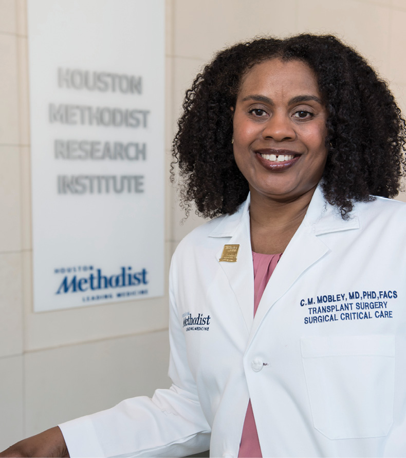 Dr. Constance Mobley is among only 14 female African American physicians in the U.S. who are abdominal transplant surgeons. She directs the surgical and liver intensive care unit for Houston Methodist Hospital. Photo by Tommy Lavergne