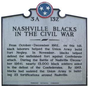 photo of historical marker at Nashville's Fort Negley
