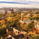 aerial view of Vanderbilt's campus in fall