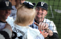 Wholehearted: Pitcher Tyler Brown and his 1-year-old daughter, Bella, both fight to overcome long odds