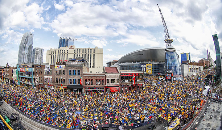 Game Six of the 2017 NHL Stanley Cup Final at Bridgestone Arena on June 11, 2017 (Photo by John Russell/NHLI via Getty Images)