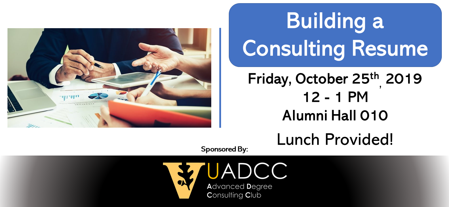 Building A Consulting Resume Workshop Vu Advanced Degree