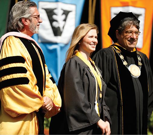 Dean Mark Wait, Founder's Medalist Nora Pertz, Chancellor Nicholas S. Zeppos