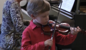 Blair School's young music students perform for memory care patients thumbnail image