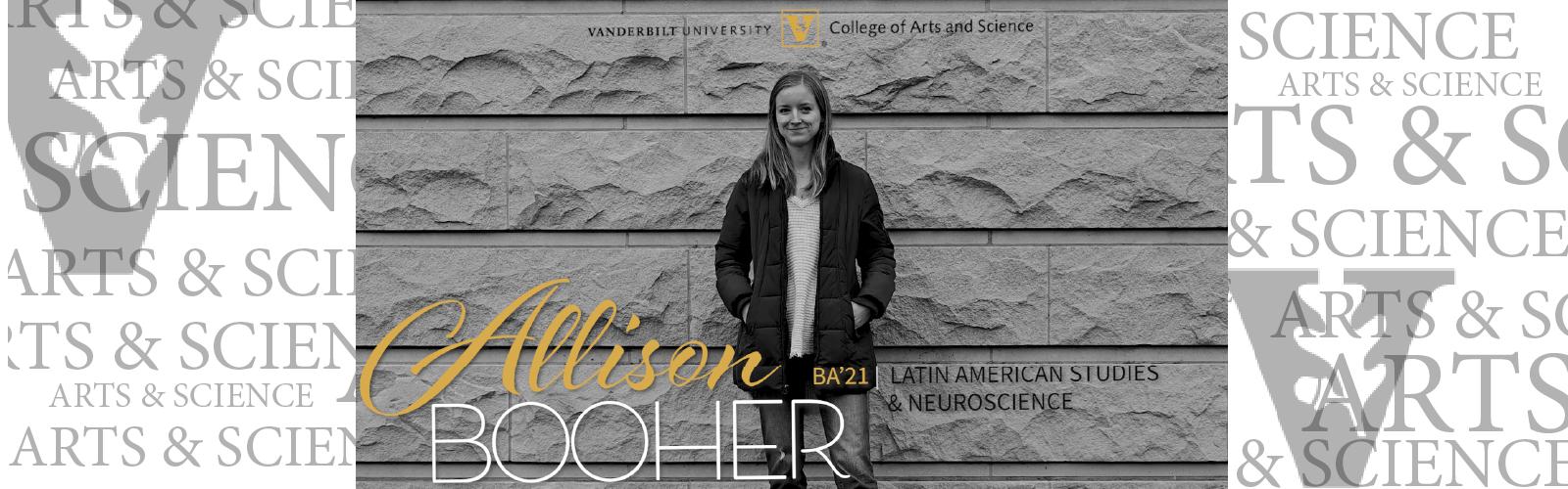 Student profile: Allison Booher (BA'21) Latin American Studies & Neuroscience